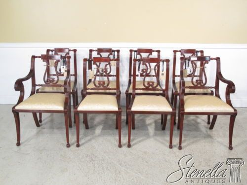 36230 set 8 federal lyre back style mahogany dining room chairs rh pinterest com