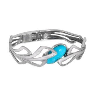 Hudson Sky Hinged Blue Turquoise Cuff Bracelet