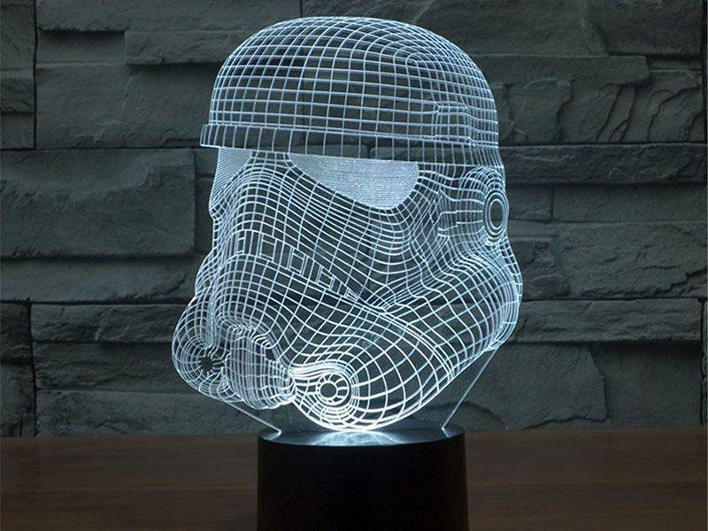 star wars lampe 3d stormtrooper design geek pinterest. Black Bedroom Furniture Sets. Home Design Ideas