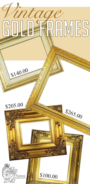 Wall decor ideas vintage frames gold home