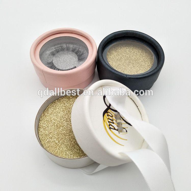 e0626a922d0 Private Label Glitter Paper Empty Round Lash Box New Design Round Custom Eyelash  Packaging