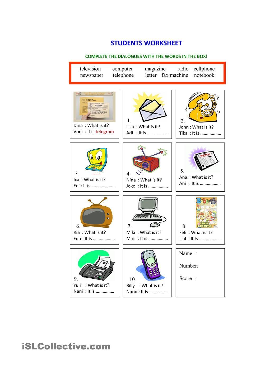 Communication worksheets for grade 3