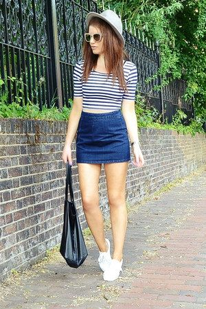 h&m denim skirt - Google Search | Tianna | Pinterest | Denim skirt