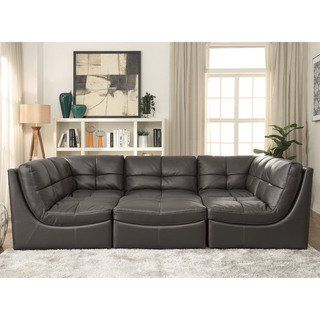 draven contemporary grey 6 piece sectional by foa in 2019 basement rh pinterest com