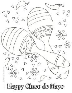 Cinco De Mayo Coloring Pages Cinco De Mayo Crafts Coloring