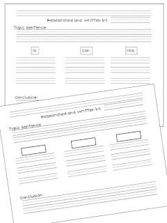FREE research_informational writing planning sheet (tree