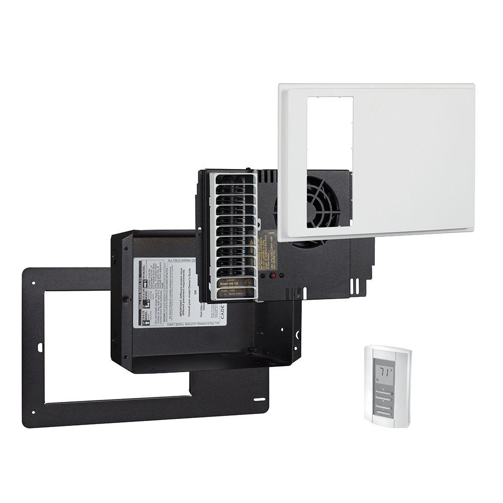 Cadet Apex72 1000 Watt 240 Volt Electric High Wall Heater Kit With Wall Thermostat Hwc102k The Home Depot High Walls Wall Mounted Heater Thermostat