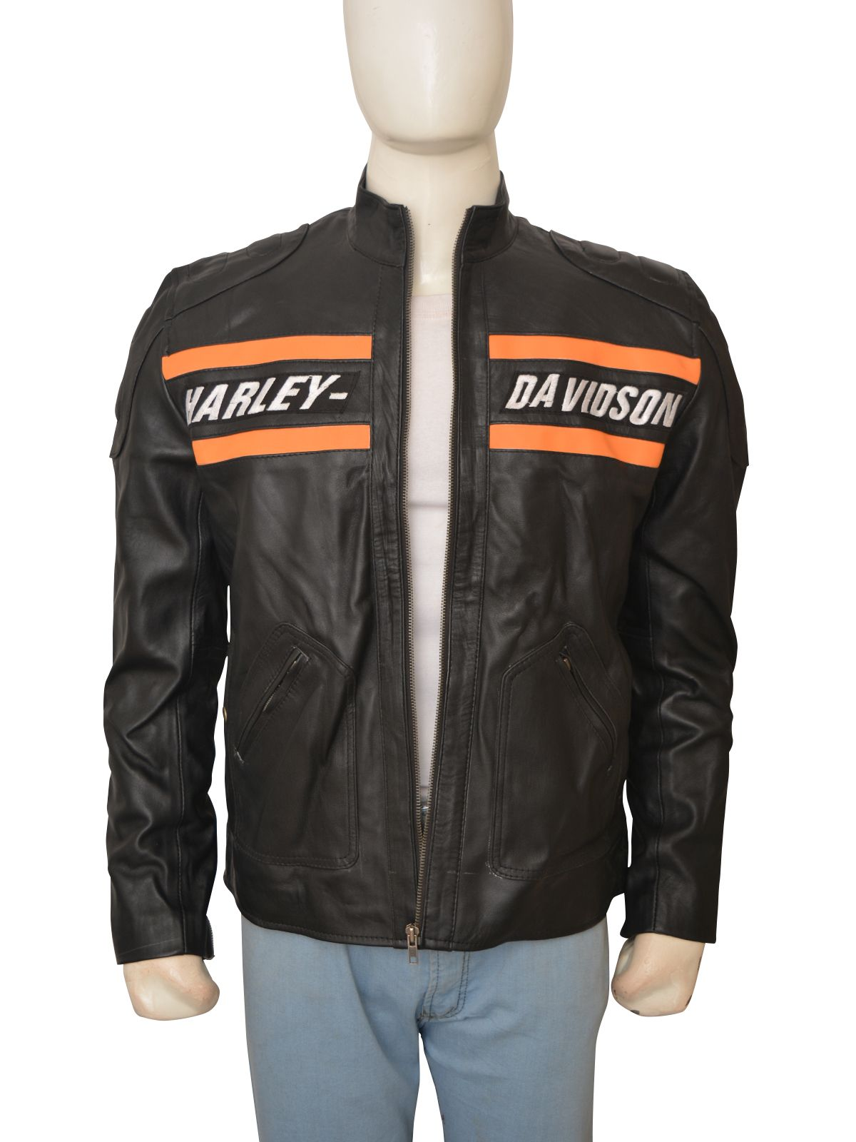 Harley Davidson Mens Bill Goldberg Real Leather Jacket