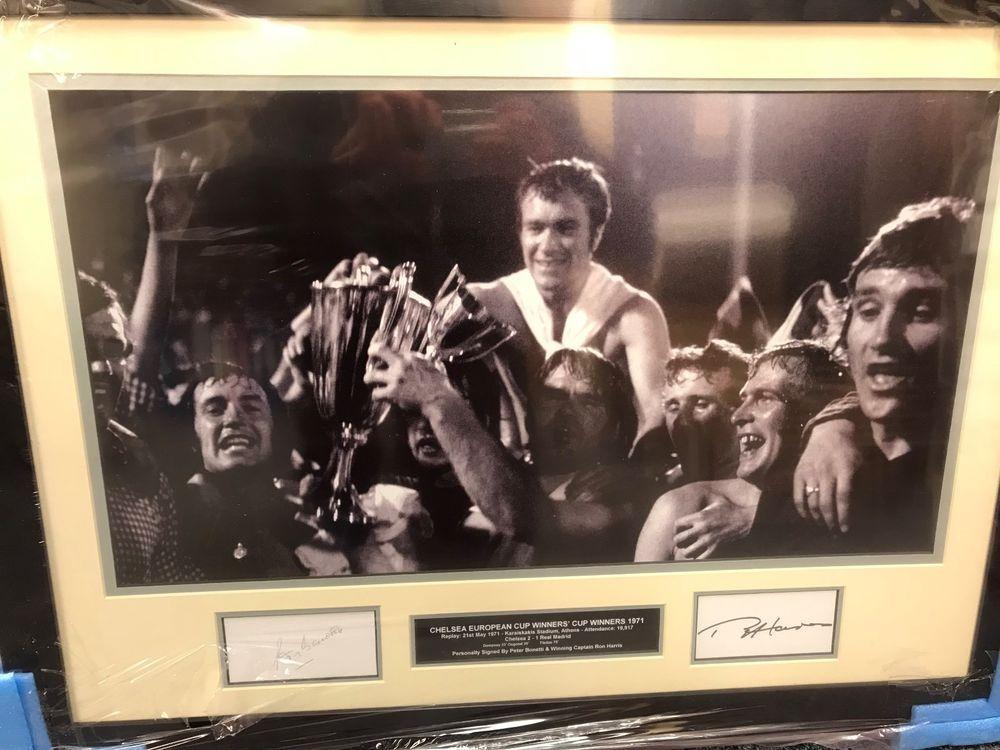 Chelsea Euro Cup Winners 1971 Presentation - Memorabilia Bonetti Harris e7d05856c