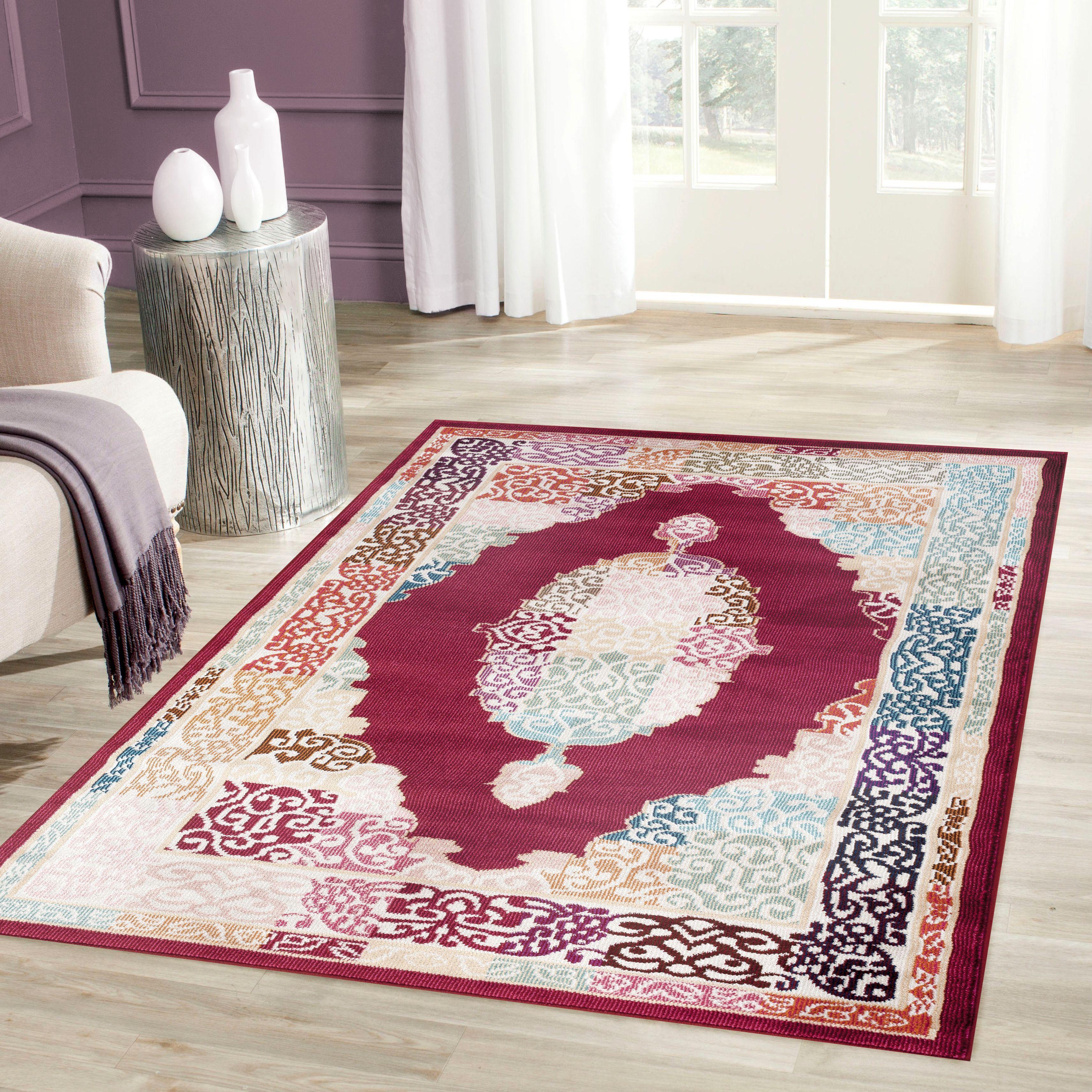 rug for living room size%0A OSTI Traditional Oriental Medallion Design Red Multicolored Indoor Area Rug     u      x   u             Red  X    Multi  Size   u      x   u      Polypropylene  Border