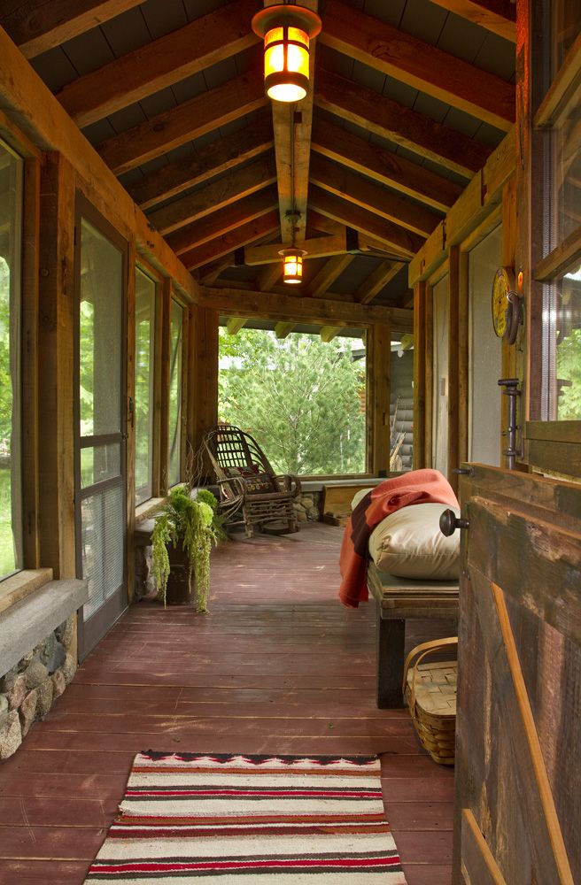 rustic cabin breezeway cabin sleeping porch cabin porches log rh pinterest com