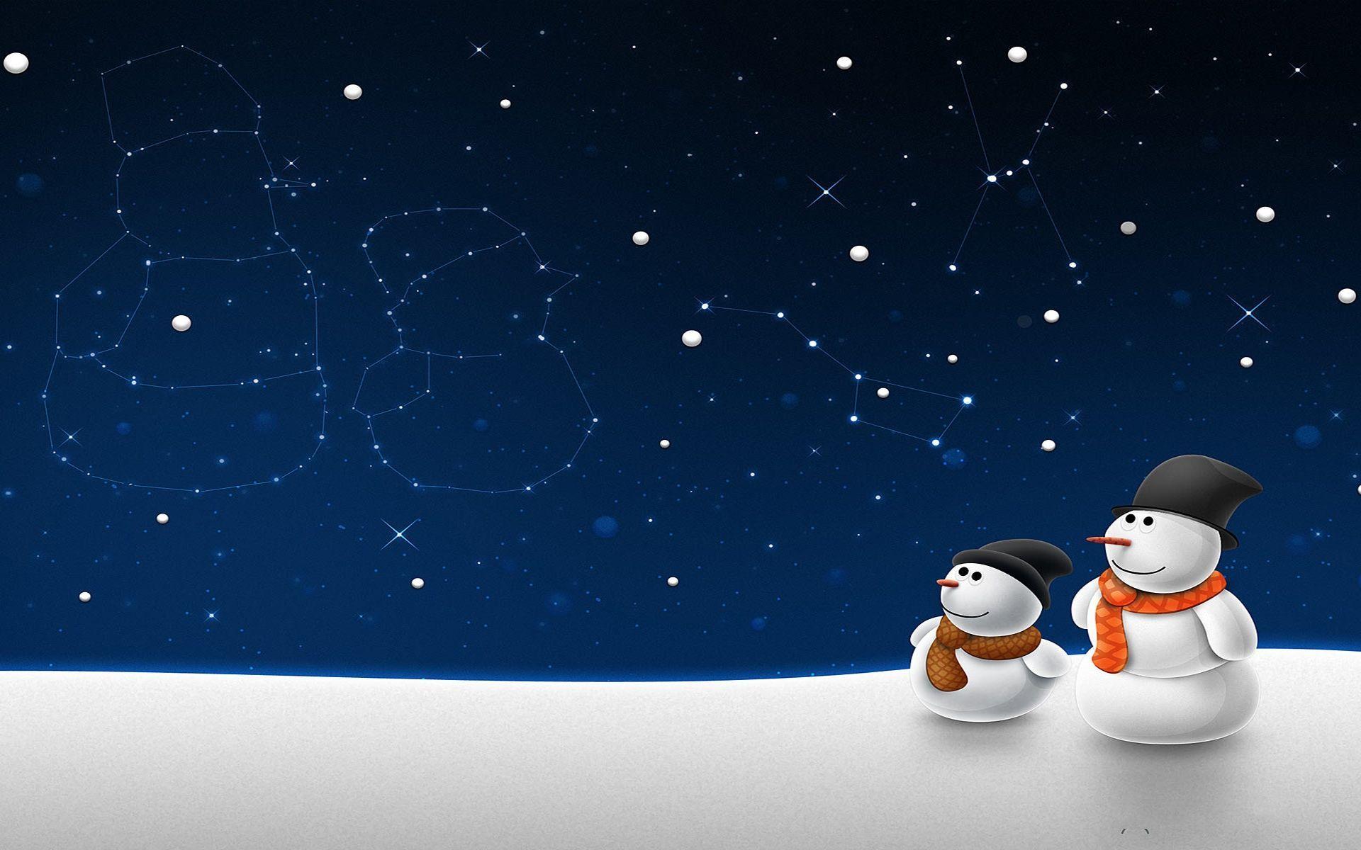 Christmas Snowman Wallpaper HD