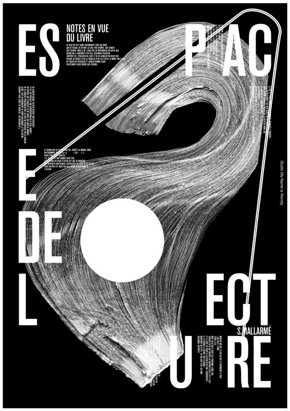 My Name is Wendy creates beautiful posters celebrating French poet Stéphane Mallarmé.