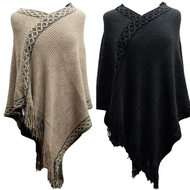 Knit Ponchos... selling out!! We are open til 8 tonight