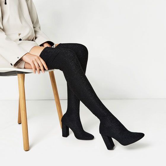 Image 7 of OVER THE KNEE HIGH choos HEEL SOCK Stiefel from Zara   choos HIGH ... 2b8d0c