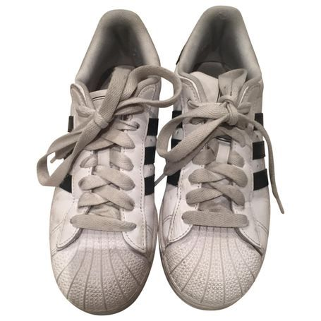 Superstar leather trainers ADIDAS White