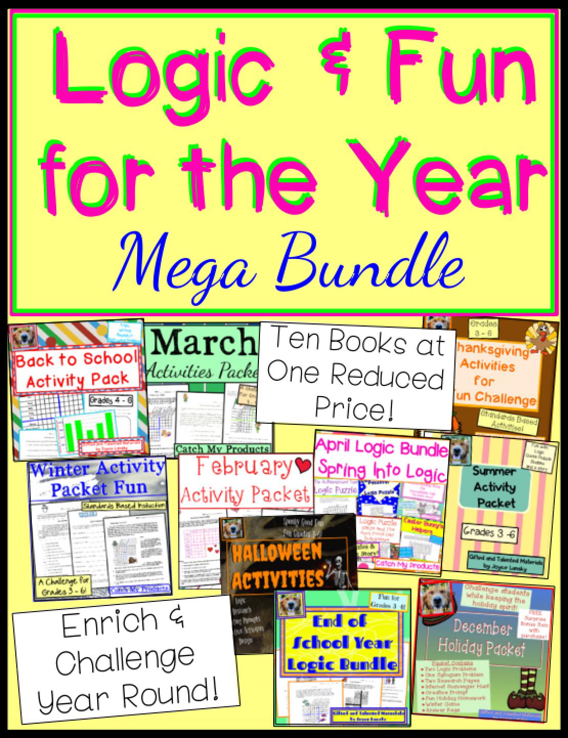 Critical Thinking Activities Year Round Mega Bundle