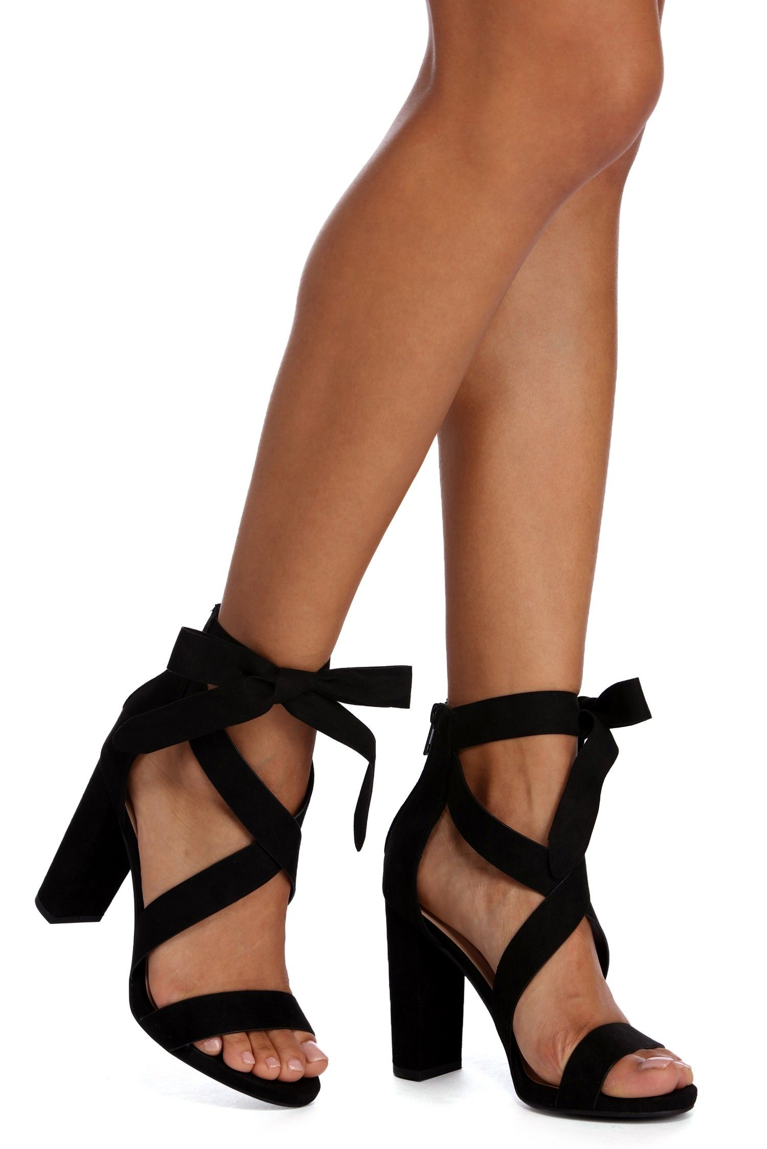 15e15e00118 Wrapped In Classy Faux Suede Heels in 2019 | prom 2019 | Shoes ...