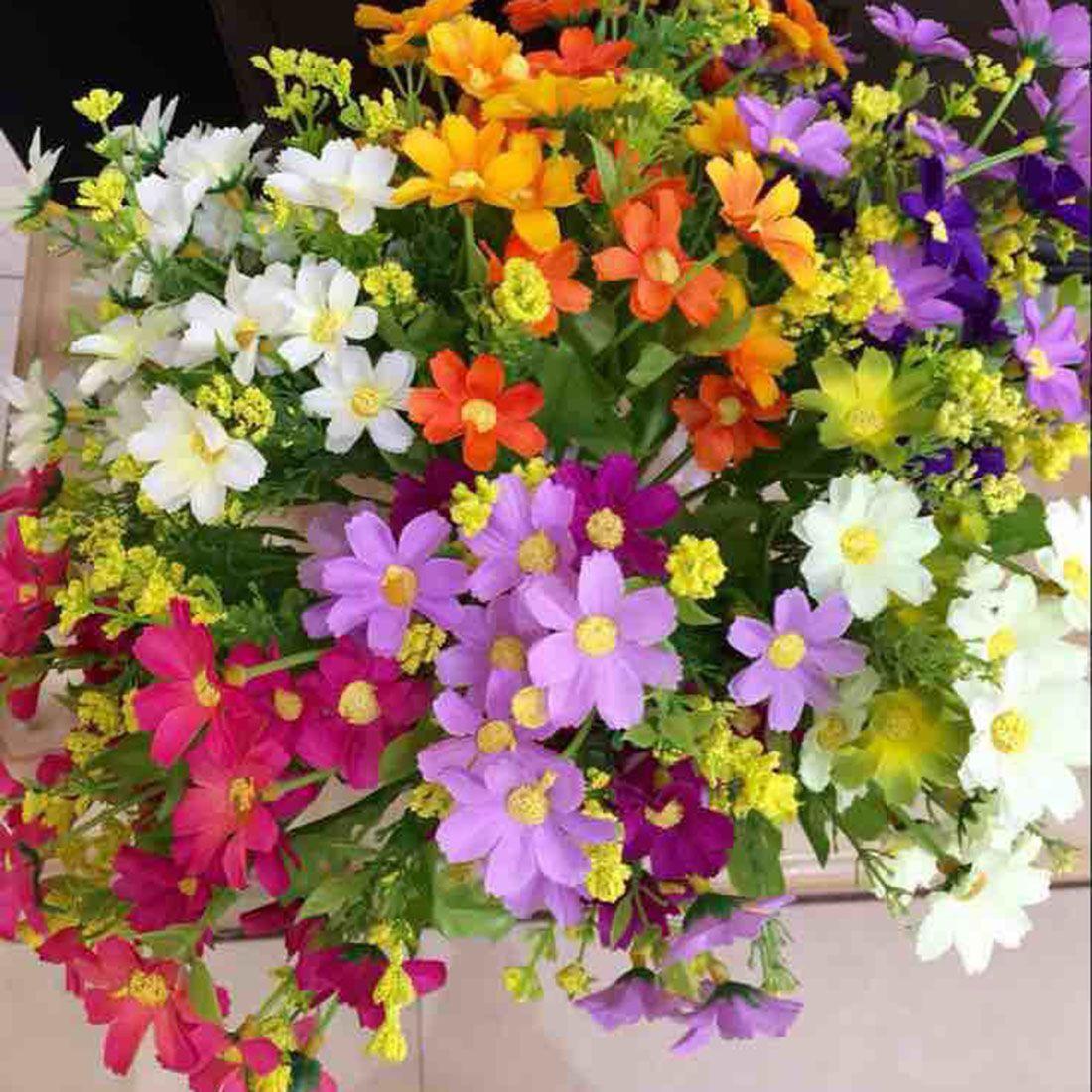 new 1 bouquet 28 heads fake daisy artificial silk flower home rh pinterest co uk