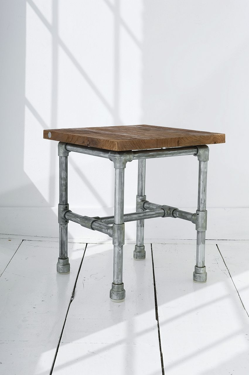 industrial tubeline stool by home decor singapore
