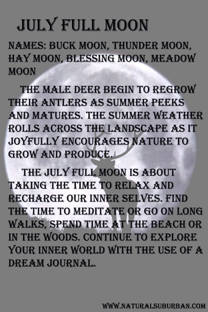 July Full Moon Full Buck Moon Full Moon Names Moon Names Moon Meaning