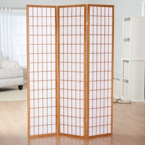 simora honey shoji 3 panel room divider patio divider for the rh pinterest com