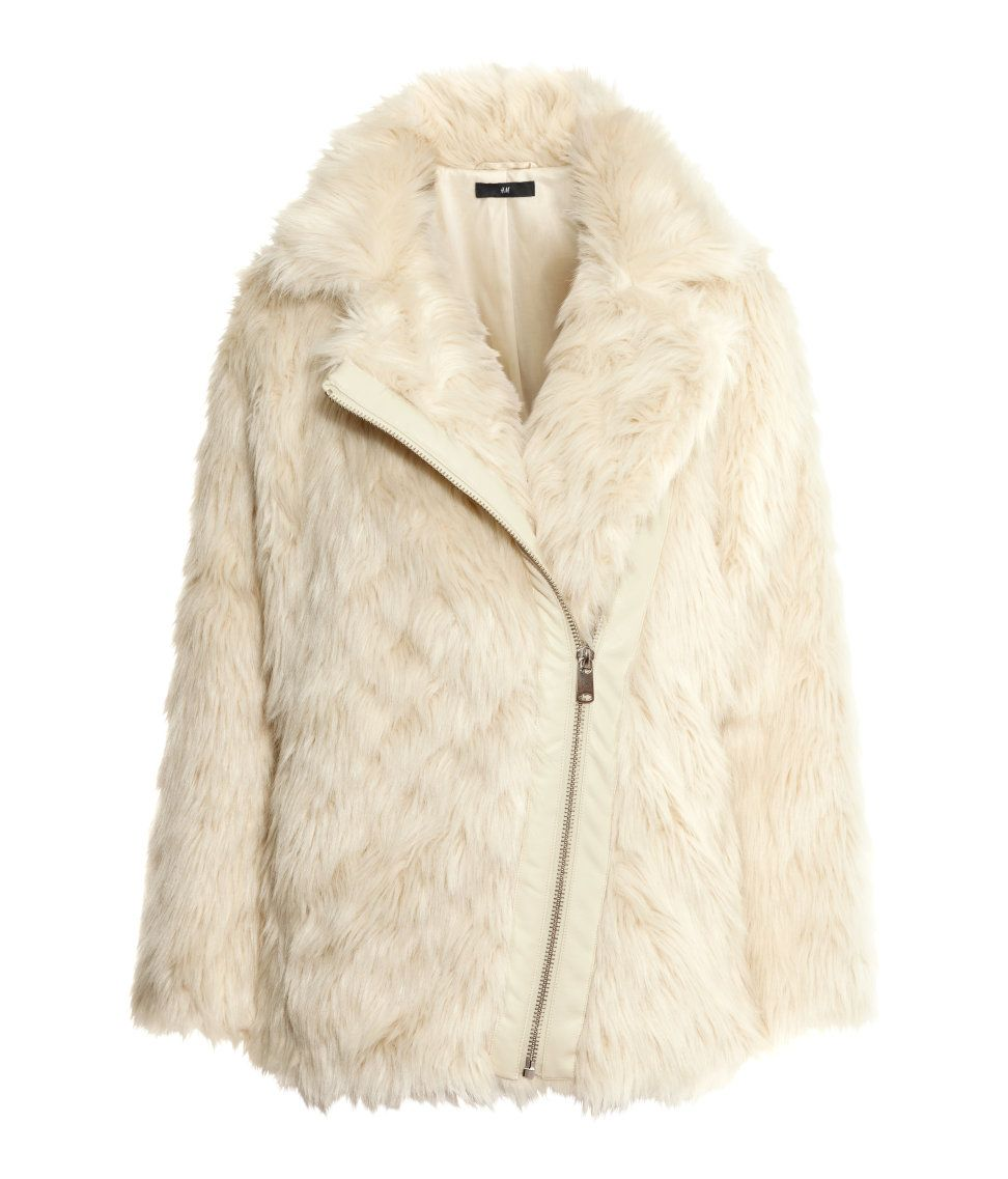 H M Offers Fashion And Quality At The Best Price White Faux Fur Jacket Fashion Fur Jacket