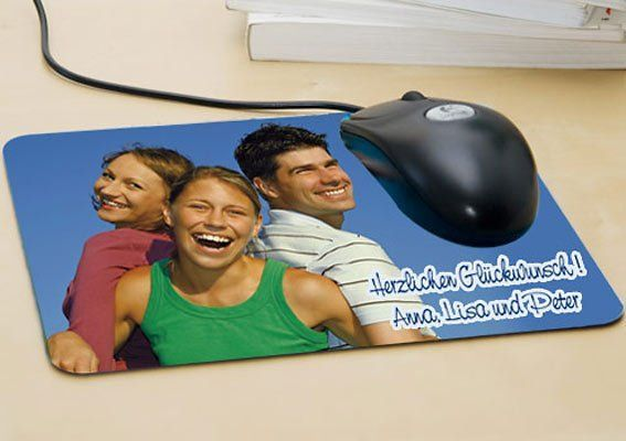 mousepad mit deinem foto geschenk f r alle die am pc. Black Bedroom Furniture Sets. Home Design Ideas