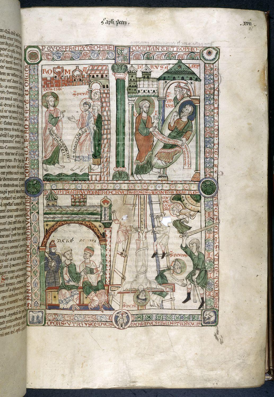 Peter and Paul, german, 1170-1180, British Library Catalogue of Illuminated Manuscripts