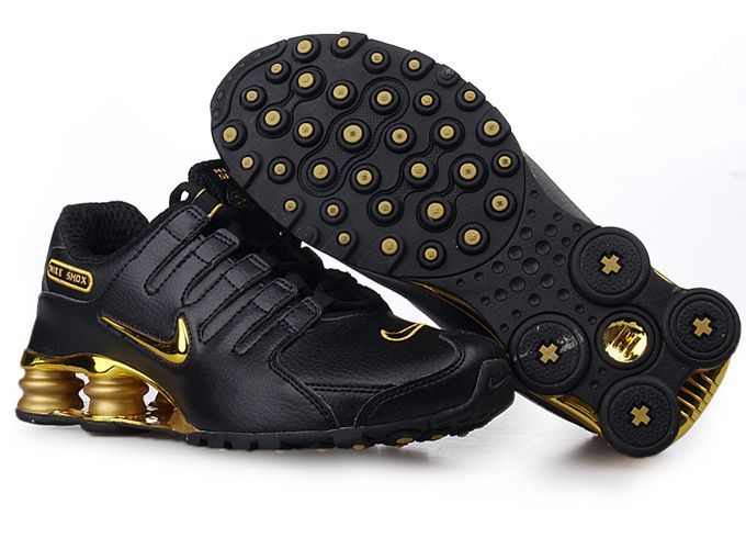 Discount Authentic Womens Nike Shox NZ Shoes Black/Gold/Yellow