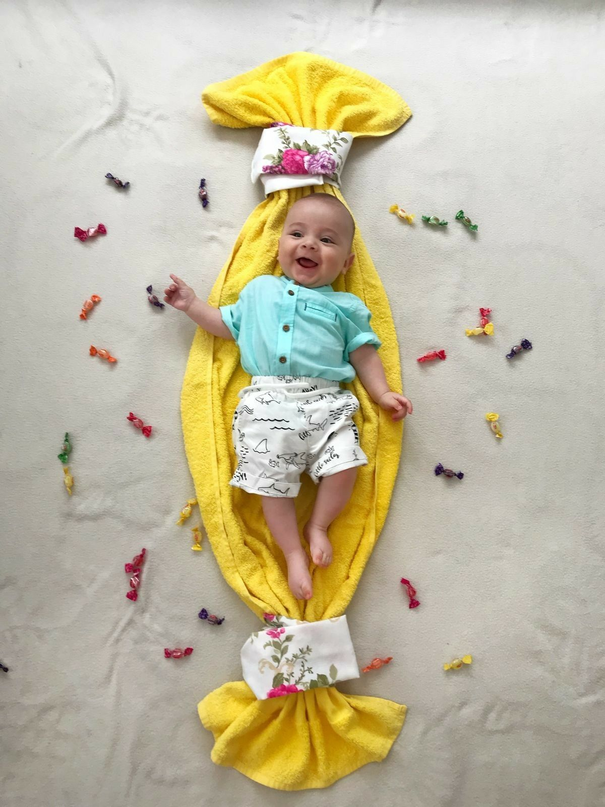 Baby Photoshoot Idea At Home Baby Boy Photography Monthly