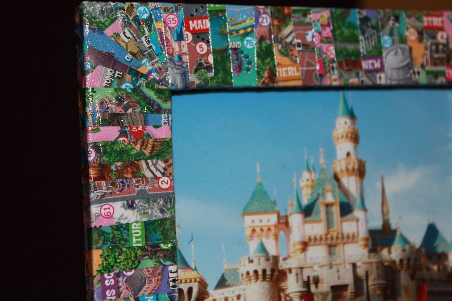 Disneyland Map 4x6 Picture Frame | Disneyland map, Map pictures and ...