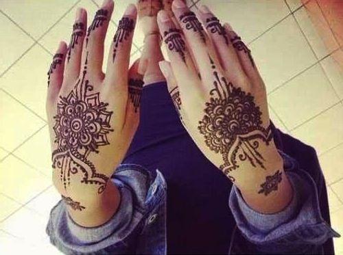 حنة حناء سوداء ورود وأشكال Hand Henna Hand Tattoos Henna Hand Tattoo