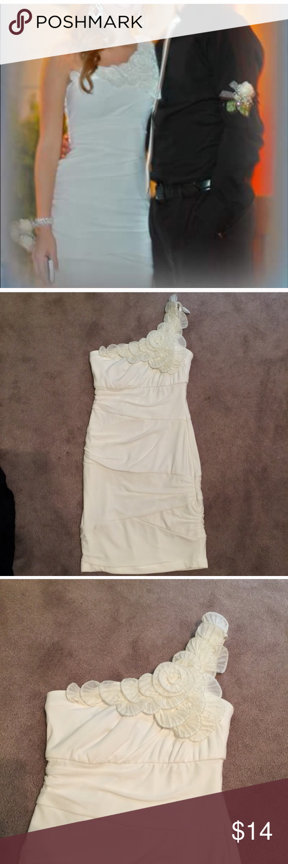 White homecoming formal dress size dry cleaned my posh closet