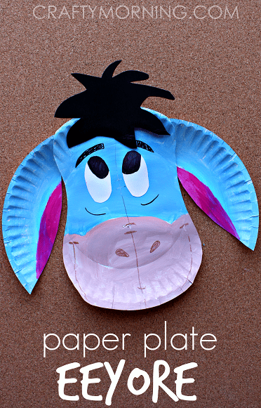 Make this sweet Eeyore paper plate craft! Perfect for the child who loves Winnie the & Make this sweet Eeyore paper plate craft! Perfect for the child who ...