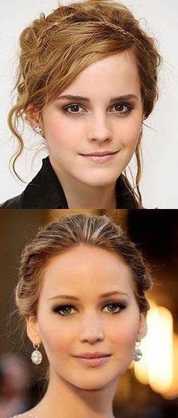 Jennifer Lawrence and Emma Watson(: I love these two!!
