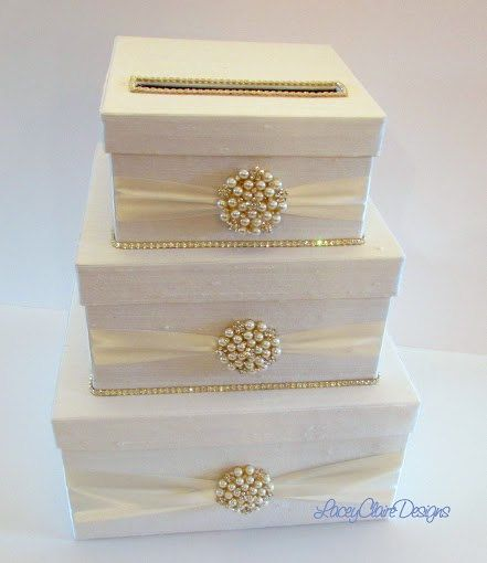 Rhinestone Wedding Card Holder Handmade Box Gift Reception Money Custom Made In Your Colors This Is