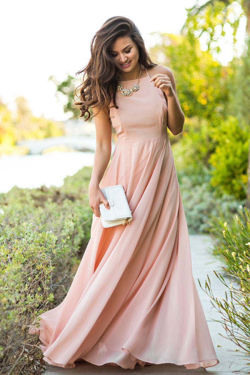 0c5aab3b0906 Emma Nude Flowy Maxi Dress – Morning Lavender | Fashion | Prom ...