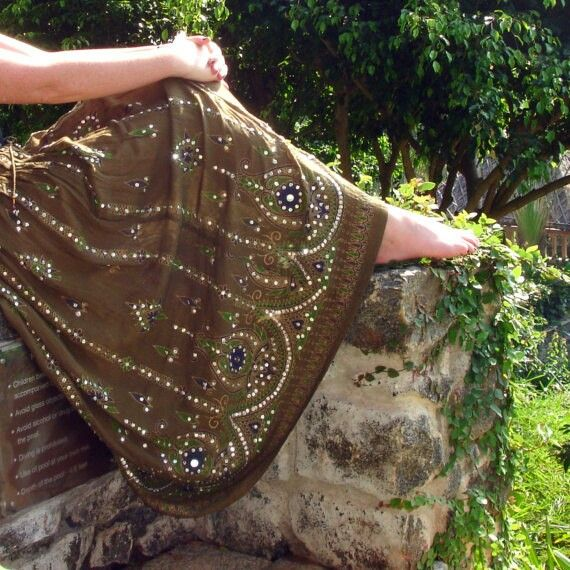 Gypsy skirt with beautiful details.