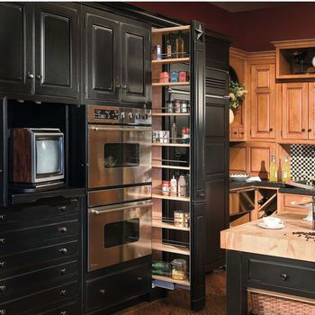 Hafele Pantry Pull Out Shelves Baskets Tall Cabinet Pantry Organizers Kitchensource Com Kitchen Cabinets Kitchen Design Pantry Cabinet