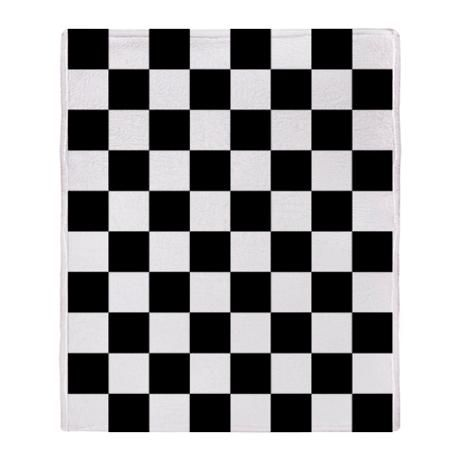 checkerboard throw blanket checkered flag
