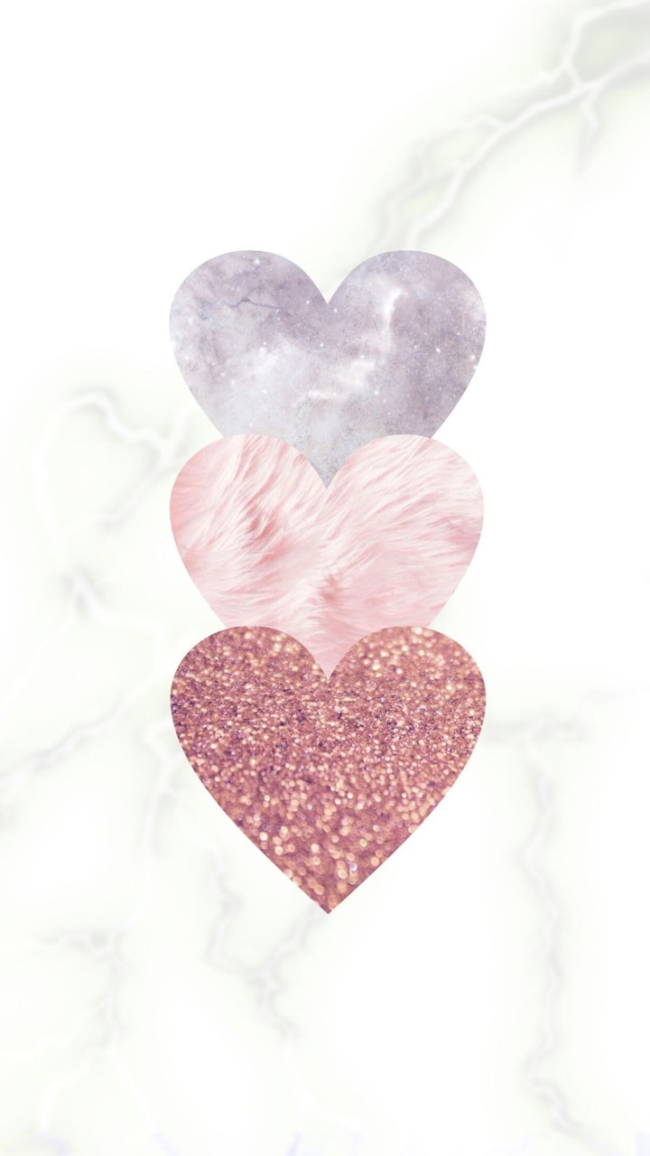 Corazones Rose Gold Shared By Maleny Villarreal Valentines Wallpaper Iphone Valentines Wallpaper Rose Gold Wallpaper
