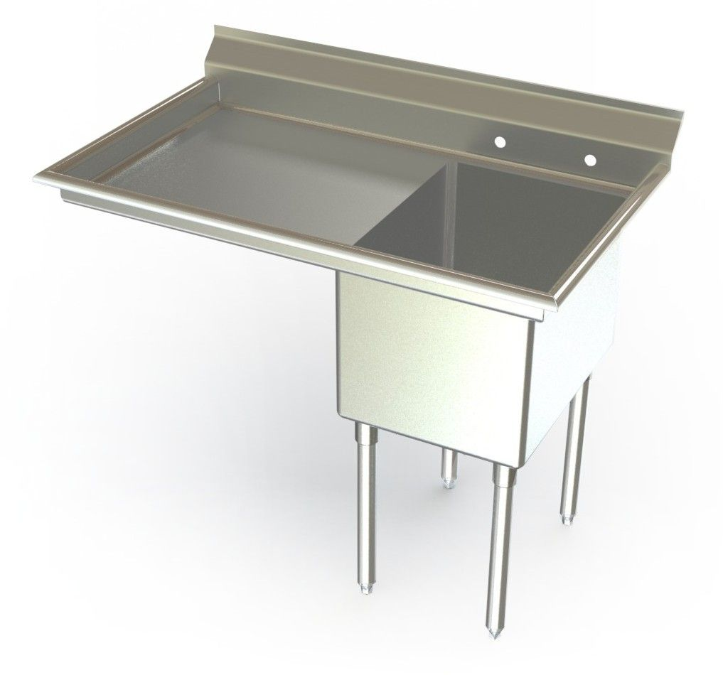 Awesome Utility Sink | One Compartment Utility Sink With Left Drainboard