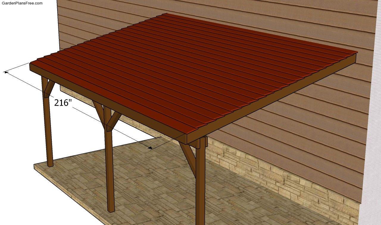 Installing the roofing Carport plans, Building a carport