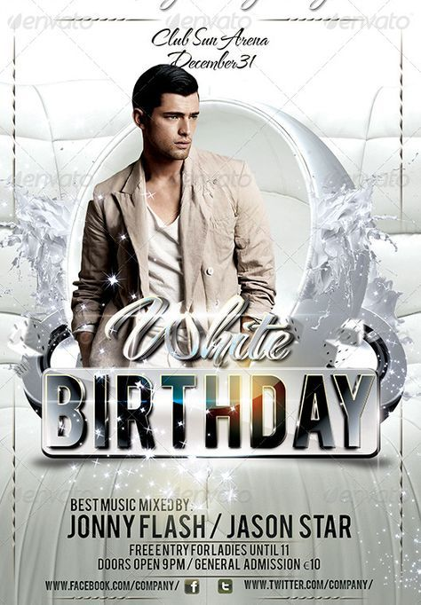 20 Beautifully Designed PSD Birthday Party Flyer Templates   21 ...