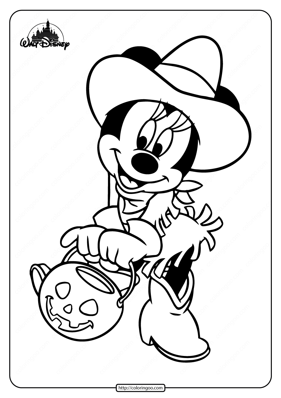 Disney Minnie Halloween Coloring Pages Minnie Mouse Coloring Pages Halloween Coloring Pages Halloween Coloring
