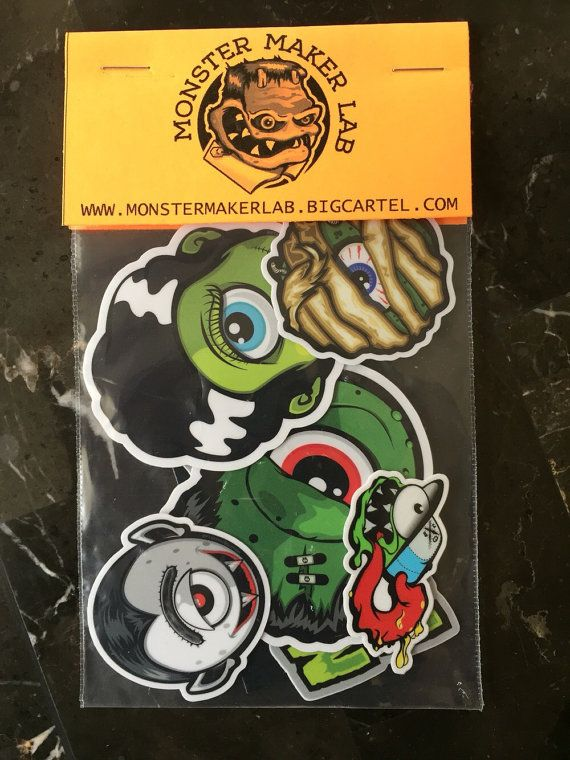 High quality die cut stickers each sticker pack includes 4 stickers from monsters series 1 as well as random bonus items additional bonus