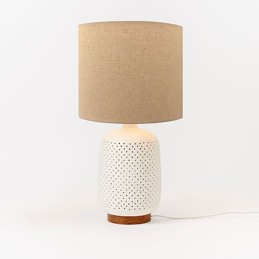 Pierced Ceramic Table Lamp Lamp Table Lamp Ceramic Table Lamps