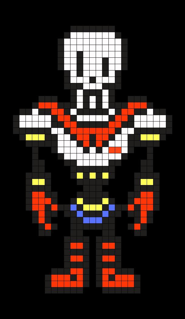 Art Undertale Pixel Head Papyrus