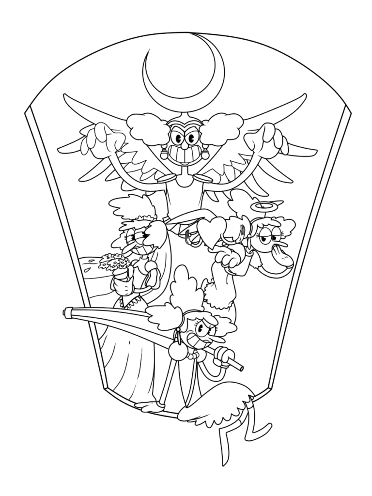 Cuphead coloring pages Print and in 2020